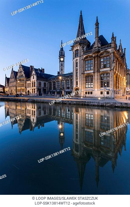 Ghent old town at nightfall
