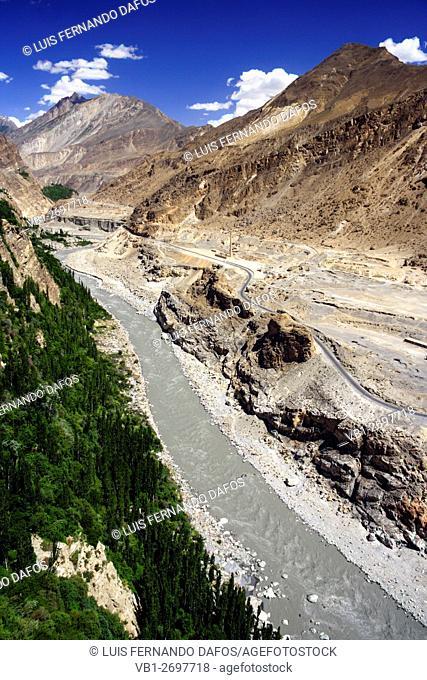 Hunza river valley and Karakoram Highway, Pakistan