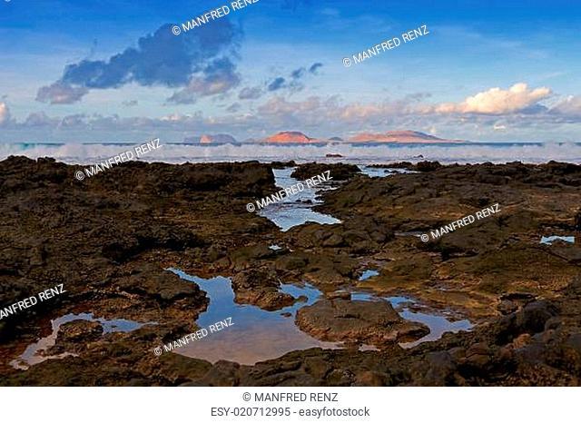 Blick von Caleta de Famara nach Isla la Graciosa