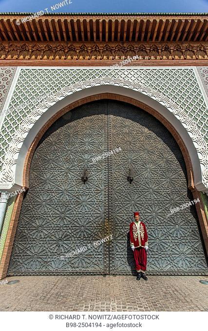 Marrakech Medina street scene, Morocco