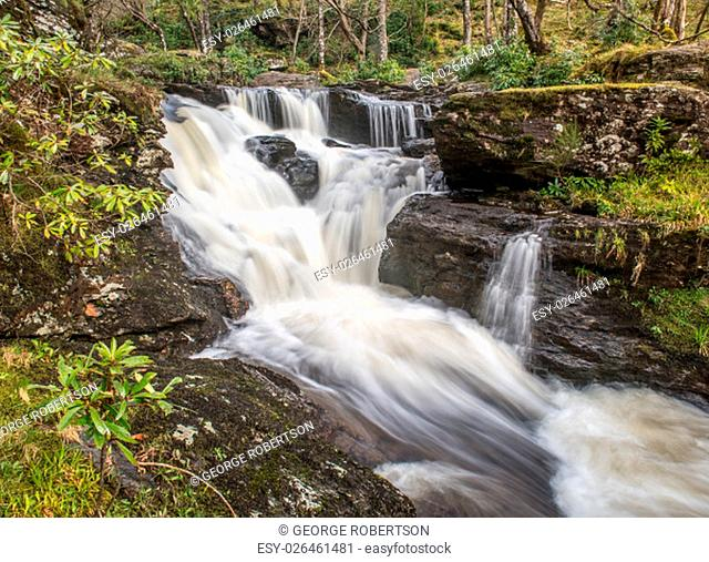 Waterfalls in Woods at Inversnaid