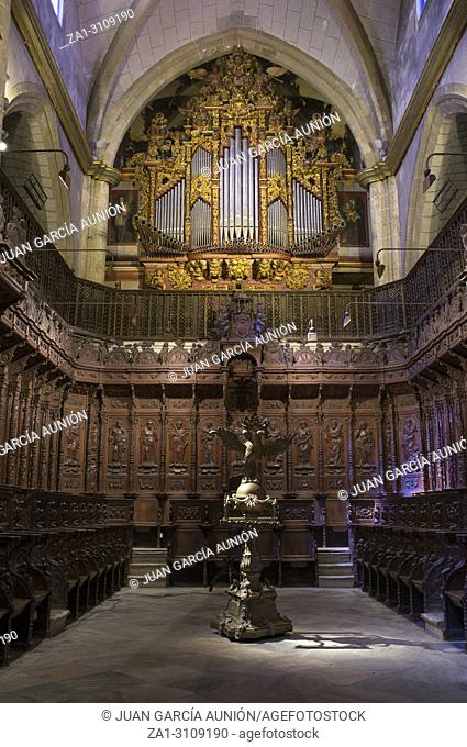 Metropolitan Cathedral of Saint John the Baptist of Badajoz indoor. Choir