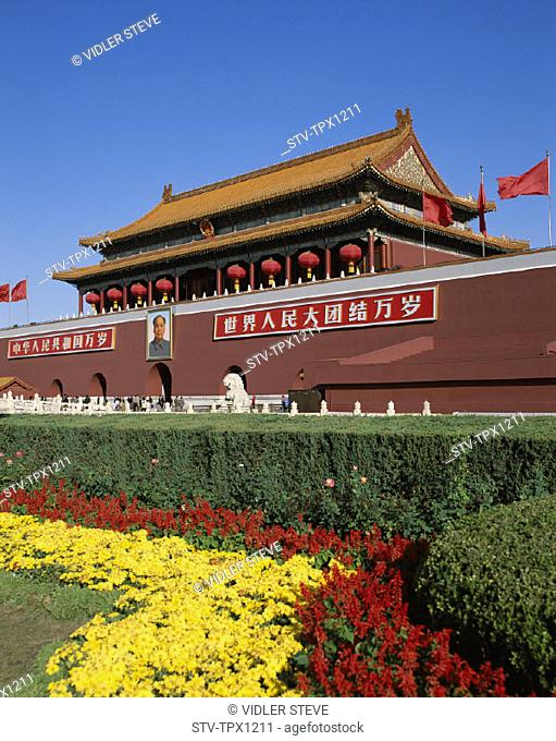 Asia, Beijing, Peking, China, Gate, Holiday, Landmark, Tiananmen, Tiananmen square, Tourism, Travel, Vacation