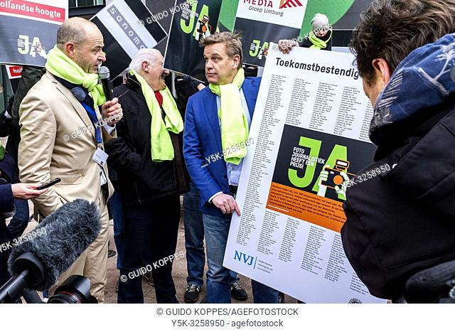 The Hague, Netherlands. Photo-Journalists and Photographers went On Strike, January 2019, against the ever declining prices in Photo-Journalism on the doorsteps...