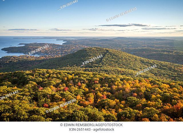 Landscape of Camden Hills State Park in Camden, Maine