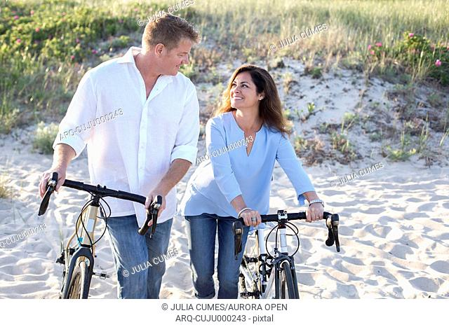 A couple are photographed at a Cape Cod beach