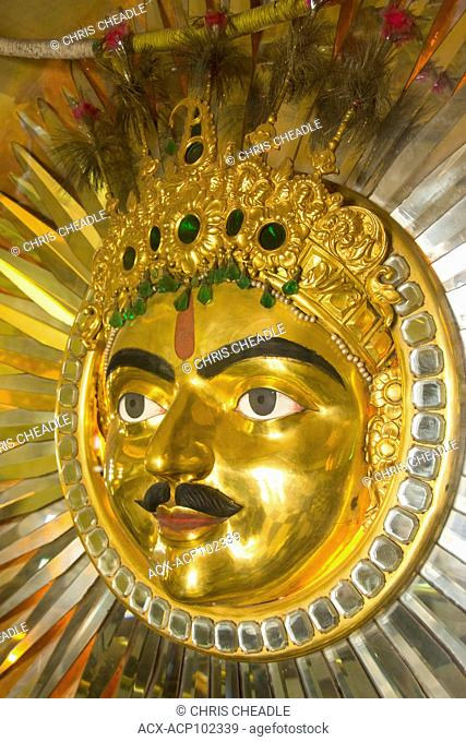 Sun God at City Palace, Udaipur, Rajastan, India
