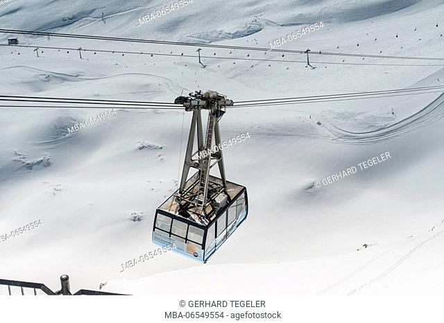 Cable car in the Zugspitze area