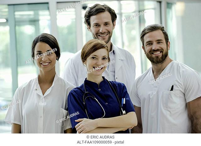 Healthcare workers, portrait