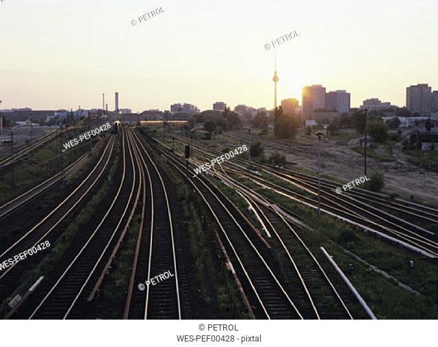 Germany, Berlin, railway tracks