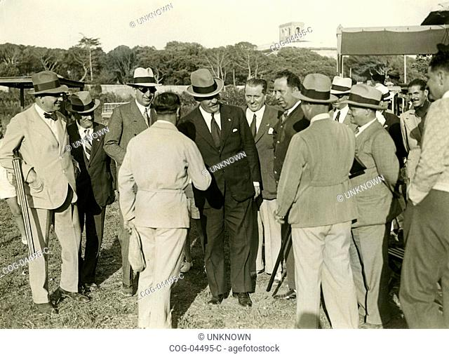 Galeazzo Ciano and the President of the FITAV Shooting in Livorno, Italy