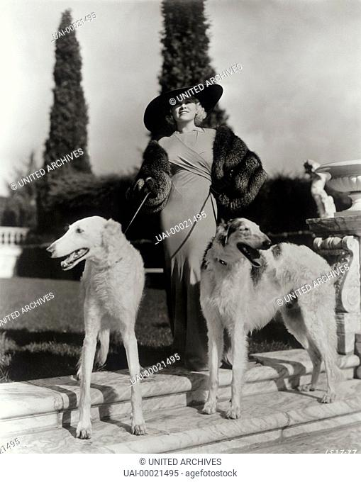 MAE WEST with wolfhounds (1933)