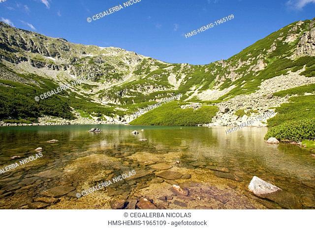 Bulgaria, Sofia region, Rila National Park, Mountain lake