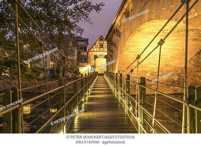 Nürnberg, Bayern, Deutschland | The Chain Bridge Kettensteg, Nuremberg, Bavaria, Germany