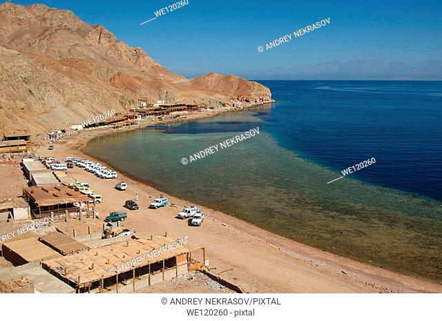 Blue Hole diving location, Dahab, Red Sea, Egypt, Africa