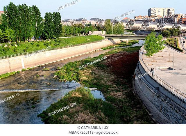 Madrid, Puente de Arganzuela, greening project 'Madrid Rio'