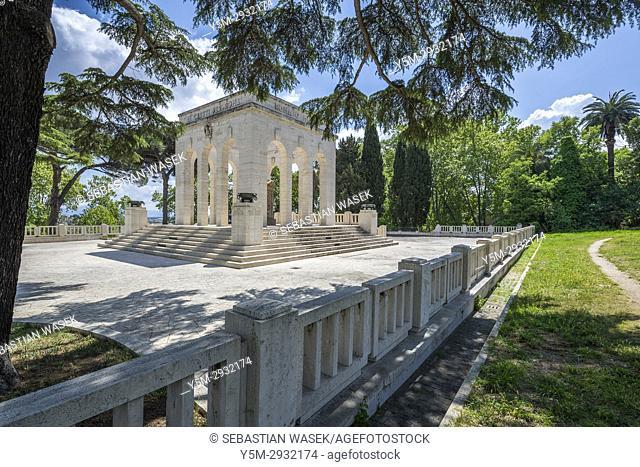 Mausoleo Ossario Garibaldino on the Janiculum Hill, Rome, Lazio, Italy, Europe