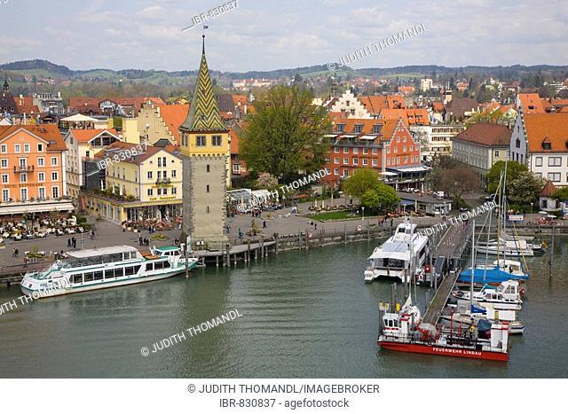 Lindau am Bodensee, Lake Constance, Harbour, Bavaria, Germany, Europe