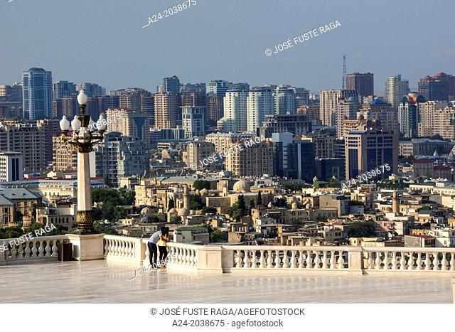 Azerbaijan , Baku City , Old Baku at foreground