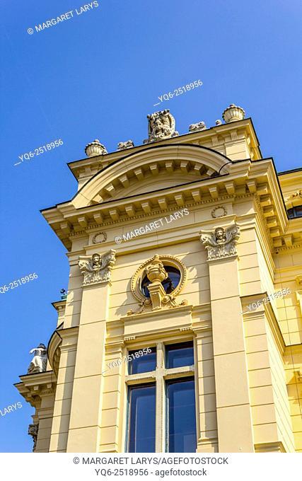 Legendary National Old 'Slowacki Theatre' in Krakow, Poland, Europe