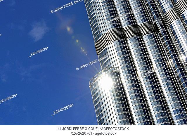 The skyscraper Burj Khalifa, the tallest manmade structure in the world, Dubai, United Arab Emirates, Asia