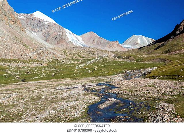 River in high Tien Shan mountains