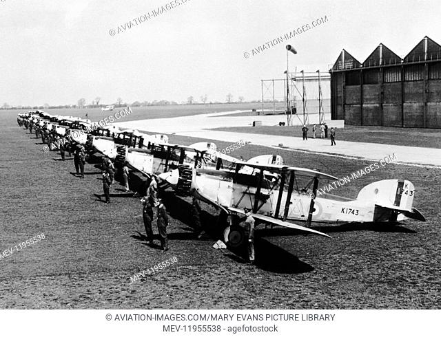 RAF 40 Squadron Fairey Gordon Mk-1S Parked in a Row As Once Based at RAF Abingdon, UK