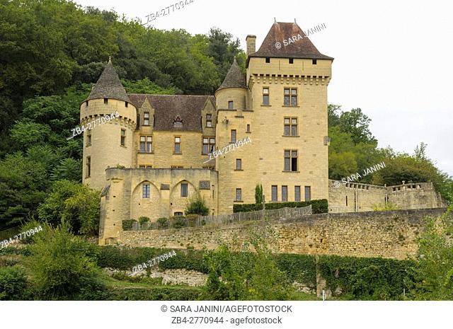 Château de la Malartrie, La Roque-Gageac, Dordogne, Aquitaine, France. La Roque-Gageac is one of France's most beautiful villages