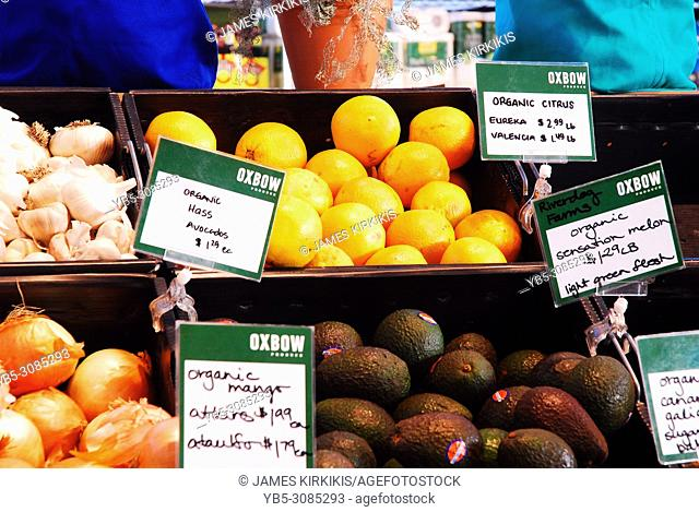 Fresh fruit for sale in an organic store in California
