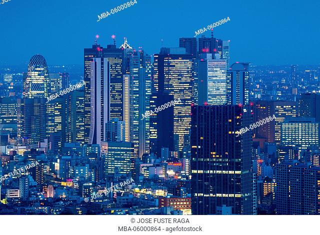 Japan, Tokyo City, West Shinjuku Skyline