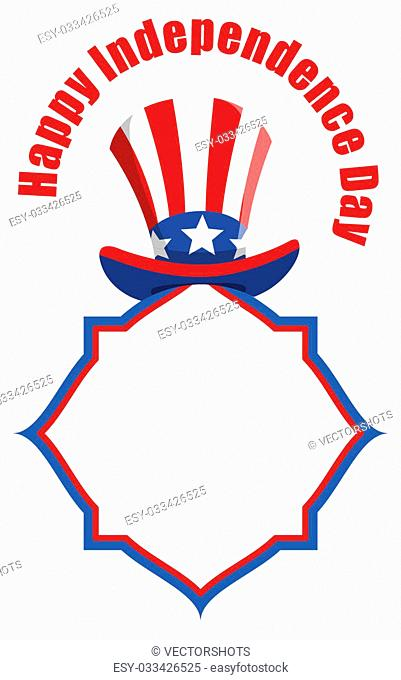 Drawing Art of happy independence day design banner