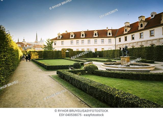 Walkway in the Wallenstein Garden in Prague, Czech Republic