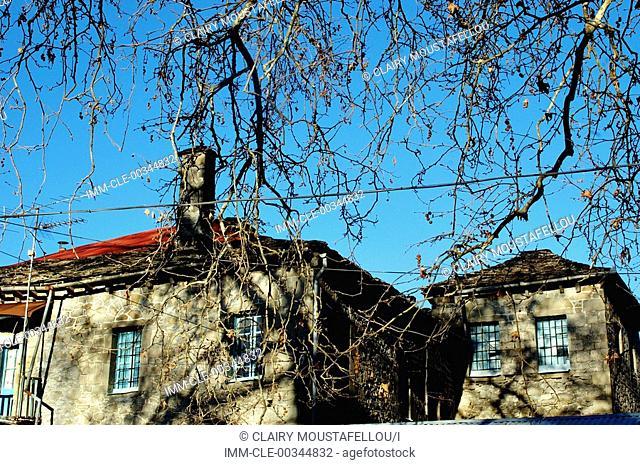 View of houses. Konitsa, Epiros, Greece, Europe