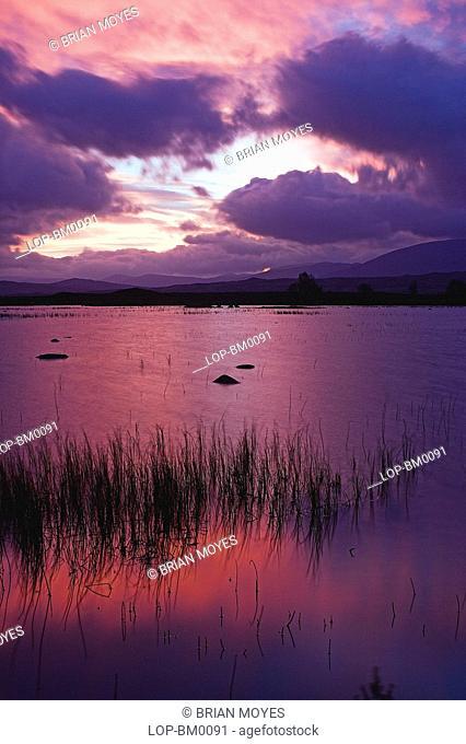 Scotland, Highland, Rannoch Moor, Rannoch Moor sunrise