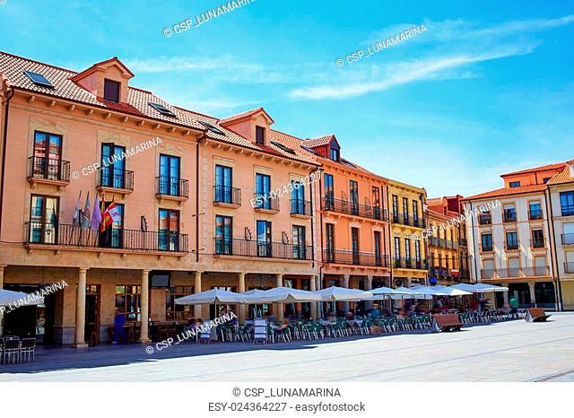 Astorga Leon plaza de Espana near Ayuntamiento