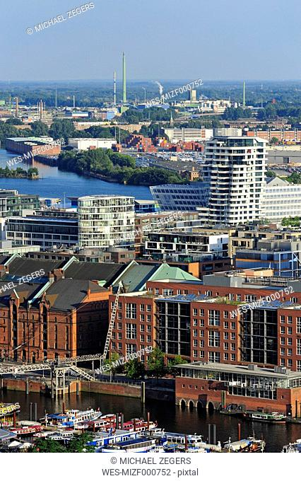 Germany, Hamburg, harbor, Speicherstadt and Hafencity