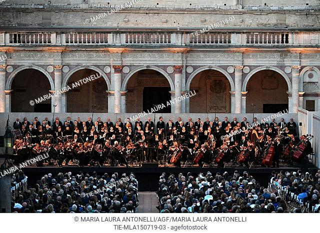 Festival dei 2 Mondi of Spoleto, the closing concert in the Duomo square ,Spoleto, ITALY-14-07-2019