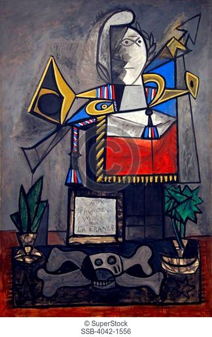 Monument to the Spaniards who Died for France, Pablo Picasso, 1946-1947, Museo Nacional Centro de Arte Reina SofÕa, Reina Sofia Museum of Modern Art, Madrid
