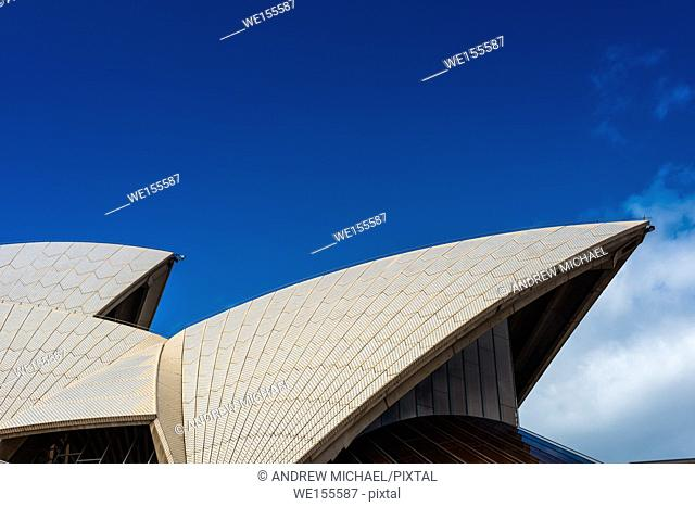 Sydney Opera house, close up detail. Sydney, NSW, Australia