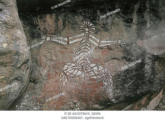 Aboriginal cave paintings, Anbangbang Gallery, Burrunggui (Nourlangie Rock), Kakadu National Park (UNESCO World Heritage List, 1981), Northern Territory