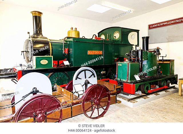 Wales, Gwynedd, Bangor, Penrhyn Castle, Penryhn Castle Railway Museum, Historic Steam Locomotive