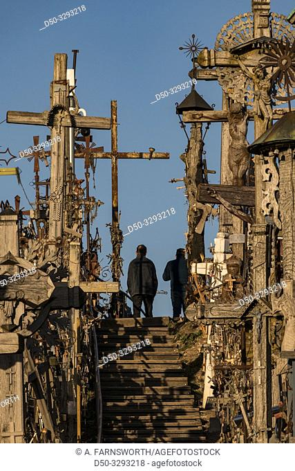 Siauliai, Lithuania The Hill of Crosses, or, KryžiŠ³ kalnas, a pilgrimage site for Catholics and is a collection of 100,000 crosses