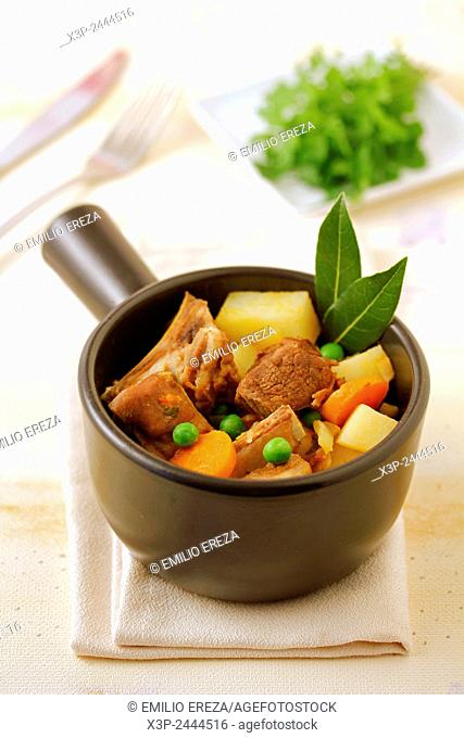 Stewed lamb with vegetables