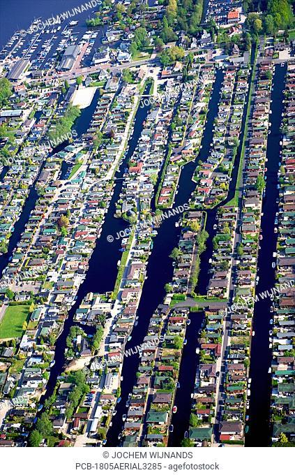 Holland, aerial view of the Loosdrechtste Plassen