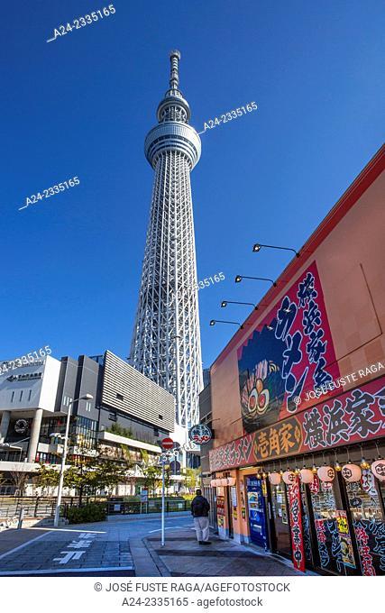 Japan , Tokyo City, Sky Tree tower