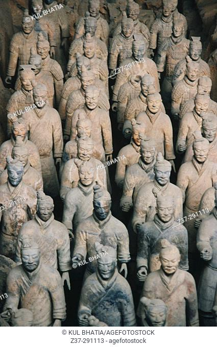 Tomb of First Emperor Qinshihuang's Terracotta warriors. Xi'an. Shaanxi, China