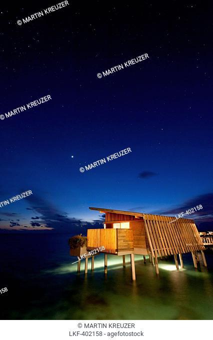 stars in the sky over water villa at Park Hyatt Maldives Hadahaa, Gaafu Alifu Atoll, North Huvadhoo Atoll, Maldives