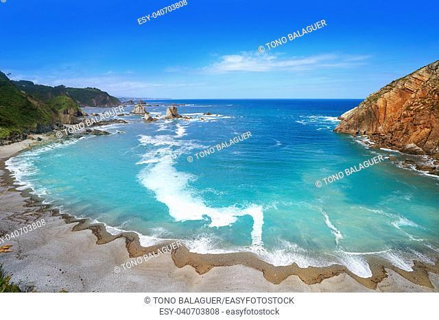 Playa del Silencio in Cudillero Asturias from Spain