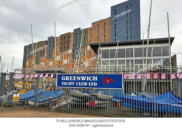 Greenwich Yacht Club, founded in 1908, Greenwich, London
