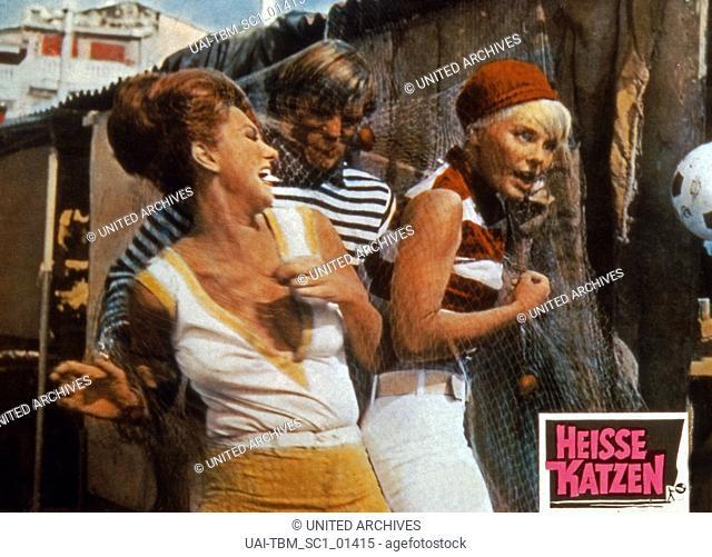 Deadlier Than the Male, aka: Heisse Katzen, Großbritannien 1967, Regie: Ralph Thomas, Darsteller: Sylvia Koscina (links); Elke Sommer
